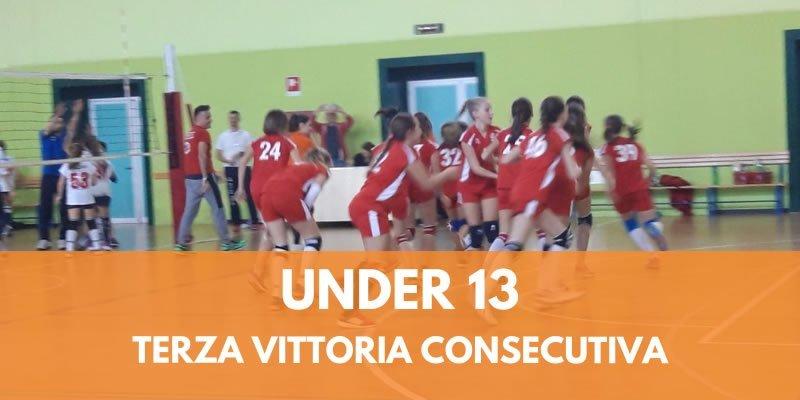 UNDER 13, TERZA VITTORIA CONSECUTIVA